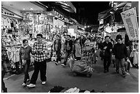 Shilin Night Market. Taipei, Taiwan ( black and white)