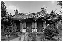 Yi Gate, Confuscius Temple. Taipei, Taiwan ( black and white)