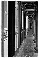 Gallery, West Side building, Confuscius Temple. Taipei, Taiwan ( black and white)