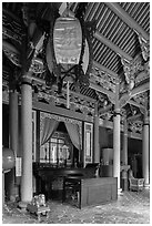 Chongsheng Shrine, Confuscius Temple. Taipei, Taiwan ( black and white)