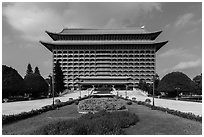 Grand Hotel, Zhongshan District. Taipei, Taiwan ( black and white)