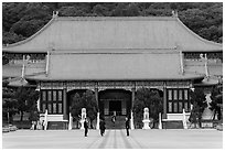Main shrine, Martyrs Shrine. Taipei, Taiwan ( black and white)