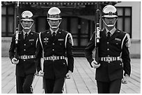 Republic of China Military guards,. Taipei, Taiwan ( black and white)
