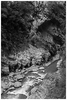Liwu River gorge, Taroko Gorge. Taroko National Park, Taiwan (black and white)