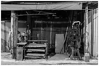 Blacksmith shop on Chinseng Lane. Lukang, Taiwan (black and white)