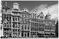 Guildhalls, Grand Place. Brussels, Belgium ( black and white)