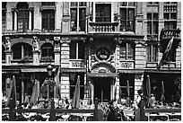La Chaloupe d'or tavern, Grand Place. Brussels, Belgium (black and white)