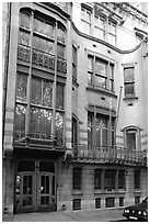 Hotel Solvay, an Art Nouveau masterpiece. Brussels, Belgium ( black and white)