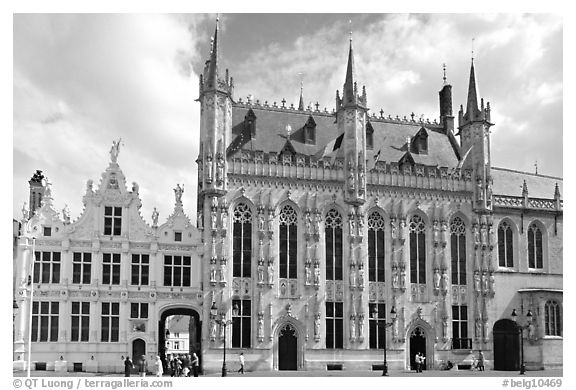 Stadhuis, Belgium's oldest town hall. Bruges, Belgium