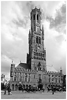 Hallen and Belfort. Bruges, Belgium ( black and white)