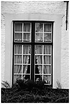 Window, Beguinage. Bruges, Belgium (black and white)