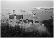 Neuschwanstein. Bavaria, Germany (black and white)