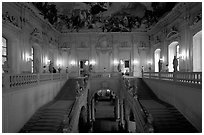 Main staircase in the Residenz. Wurzburg, Bavaria, Germany (black and white)