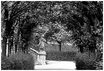 In the Residenz gardens. Wurzburg, Bavaria, Germany (black and white)
