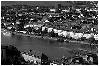 The Main River. Wurzburg, Bavaria, Germany (black and white)