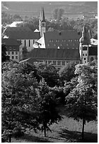 View from Festung Marienberg (citadel). Wurzburg, Bavaria, Germany ( black and white)