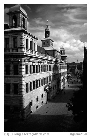 Rathaus (city hall). Nurnberg, Bavaria, Germany (black and white)