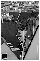 Old town rooftops. Nurnberg, Bavaria, Germany (black and white)