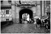 Rainy afternoon, Bamberg. Bavaria, Germany (black and white)
