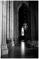 Inside the Cathedral of Uppsala. Uppland, Sweden ( black and white)