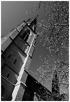 Cathedral in French gothic style, Uppsala. Uppland, Sweden ( black and white)