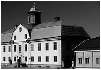 Mining Museum in Falun. Central Sweden (black and white)