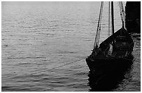 Replica of a Viking boat. Stockholm, Sweden ( black and white)