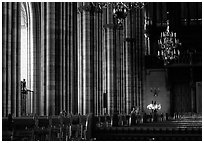 Inside the great Uppsala cathedral. Uppland, Sweden ( black and white)