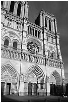 Notre Dame Cathedral, late afternoon. Paris, France ( black and white)