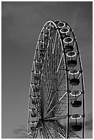 Tuileries Ferris wheel at sunset. Paris, France (black and white)