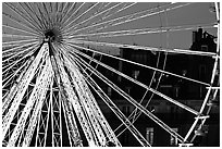 Lighted Ferris wheel in the Tuileries. Paris, France ( black and white)