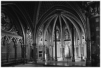 Lower Holy Chapel. Paris, France (black and white)