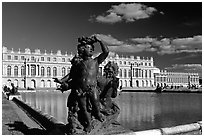 Versailles Palace. France (black and white)