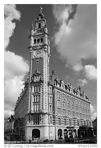 Belfries, Lille. France (black and white)