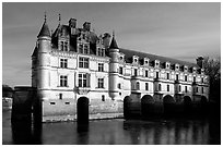 Chenonceaux chateau. Loire Valley, France ( black and white)