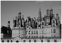 Chambord chateau. Loire Valley, France (black and white)