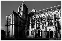 Bourges Cathedral before storm. Bourges, Berry, France ( black and white)