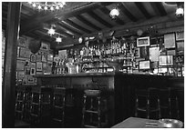 Inside a bar, Saint Malo. Brittany, France ( black and white)