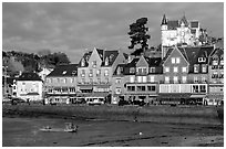 Waterfront of Cancale. Brittany, France ( black and white)