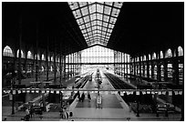 Gare du Nord train station. Paris, France ( black and white)
