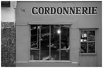 Cordonnnerie. Paris, France ( black and white)