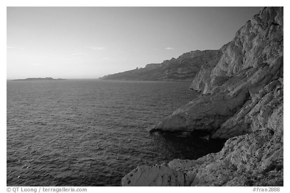 Calanque de Morgiou at sunset. Marseille, France