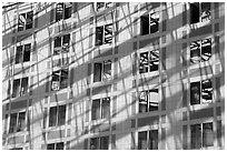 Windows, Grand Ecran building. Paris, France ( black and white)