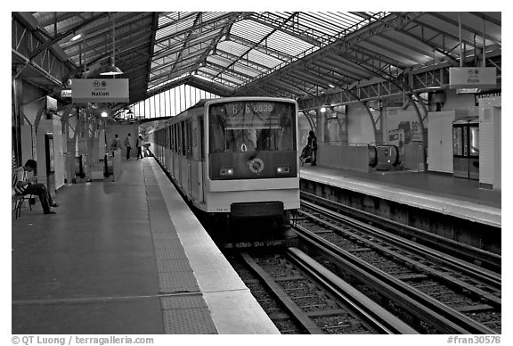 Black And White Picture Photo Aerial Subway Station
