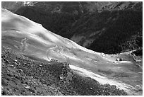 Col de la Cayolle. Maritime Alps, France ( black and white)