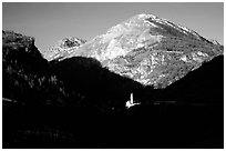 Church of Saint Dalmas le Selvage. Maritime Alps, France ( black and white)