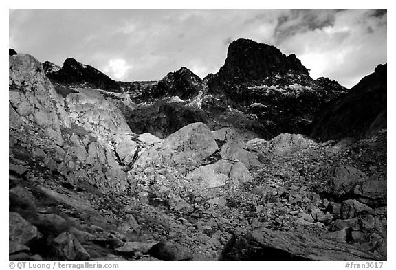 Mont Gelas in late fall, Mercantour National Park. Maritime Alps, France (black and white)