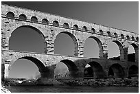 Pont du Gard. France (black and white)