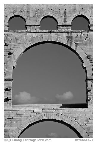 Arches detail, Pont du Gard. France