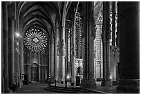Transept, basilique St-Nazaire. Carcassonne, France (black and white)